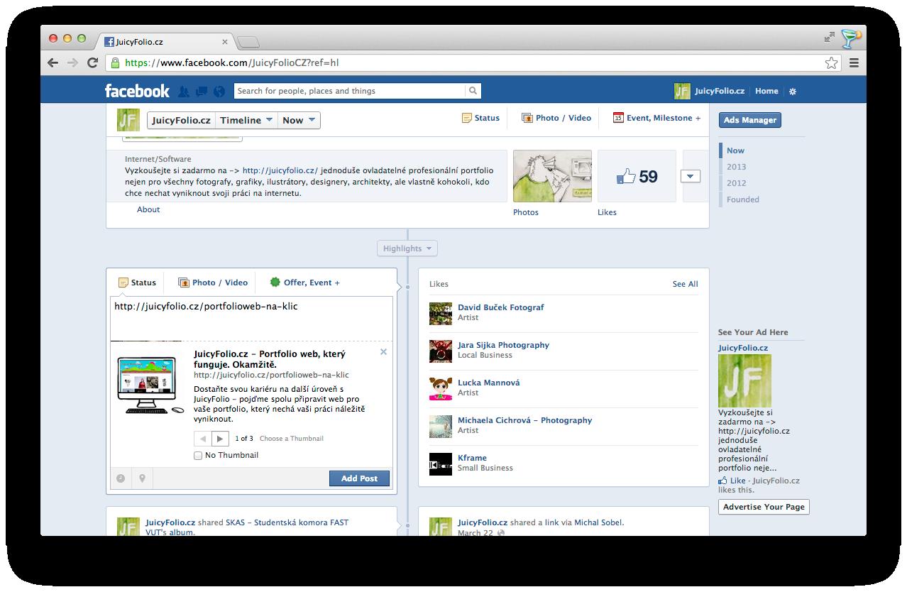 Informace na facebooku nemusí být stejné jako na vašem webu